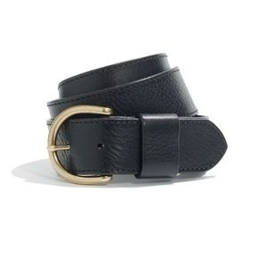 Madewell Perfect Leather Belt in Black Small